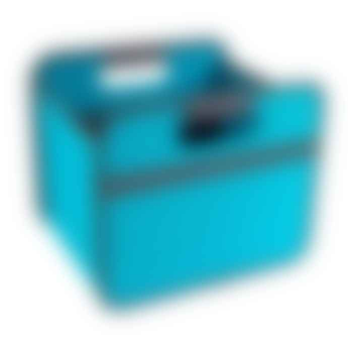 Meori Heavy Duty Premium Foldable Storage Carry Box Small Classic Azure