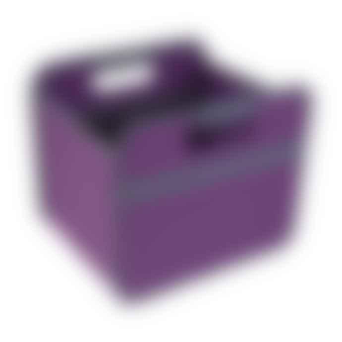 Meori Heavy Duty Premium Foldable Storage Carry Box Small Classic Magenta
