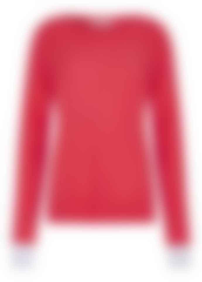 Duffy NY Geranium Grey Cuffs Round Neck Sweater