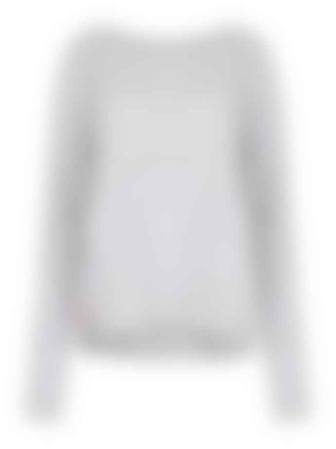Duffy NY Soft Grey  Round Neck Cashmere Sweater