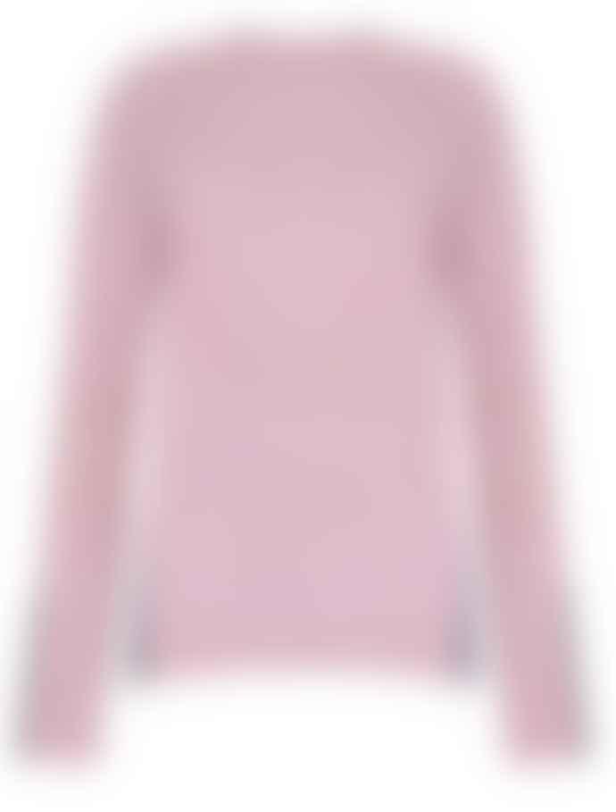 Duffy NY Dusky Pink Waffle Knit Cashmere Sweater