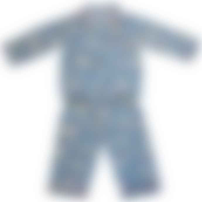Powell Craft Children's Aeroplane Print Cotton Pyjamas