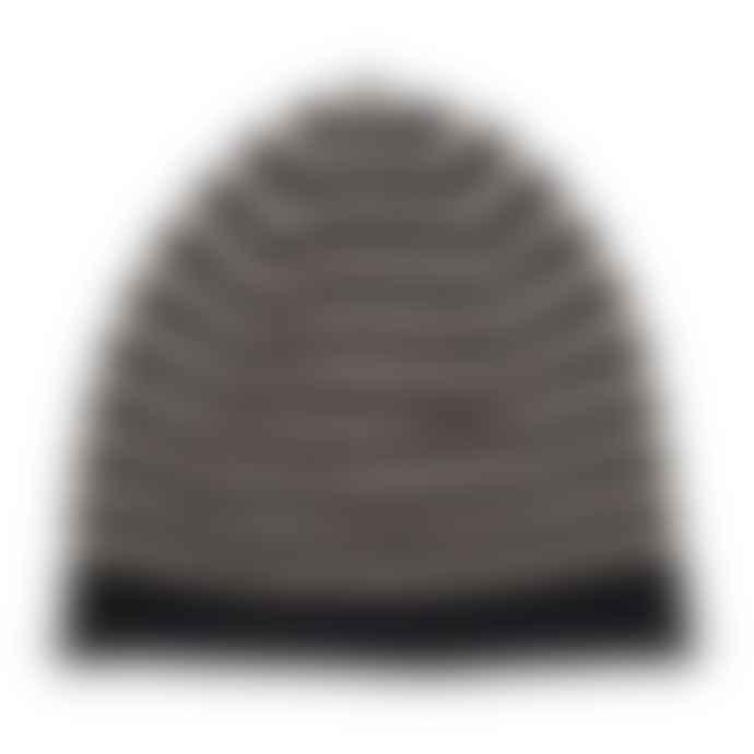 Somerville Black Camel Cashmere Breton Beanie Hat