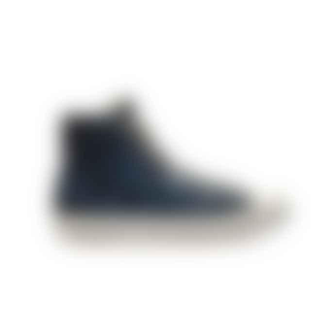Po-Zu Blue Butterfly Hi Cut Sneaker