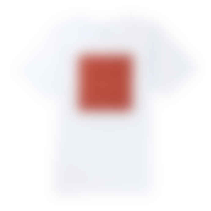 Saturdays NYC White Stencil Grid Logo Tee