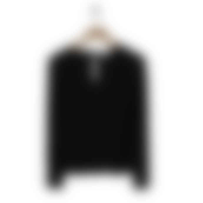 SUNCOO Black V Neck Shirt