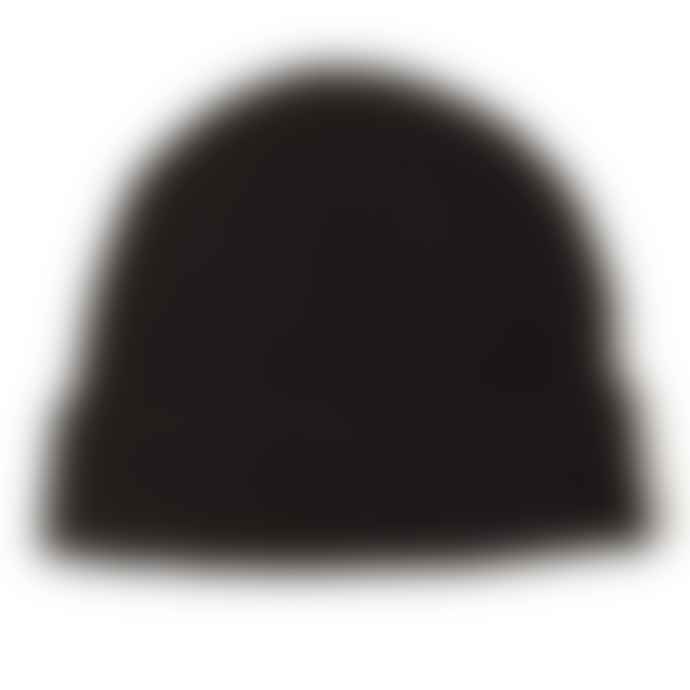 Burrows & Hare  Black 100 Cashmere Beanie