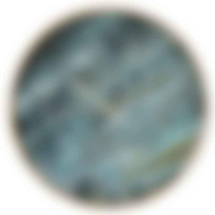 Homewood & Rose Blue Marble Effect Clock