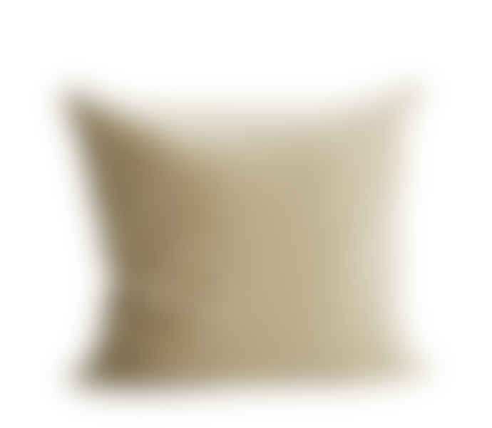Madam Stoltz Sand Velvet Cushion