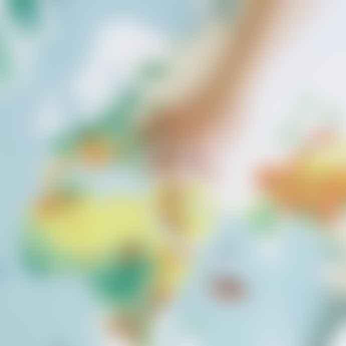 Poppik World Map Sticker Poster