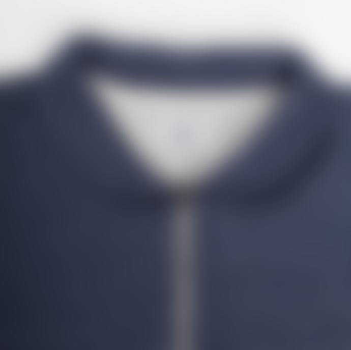 Arnold & Co Navy Benzak Bs 06 Zip Cardigan Sweat