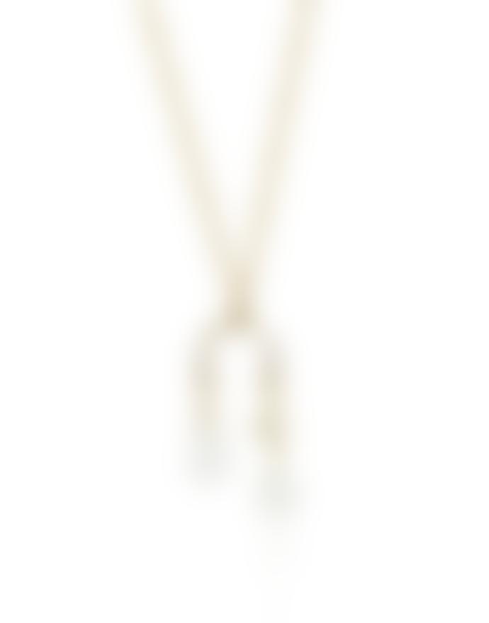 mounir LONDON Moonstone & White Chalcedony Gold Vermeil Delicate Pendant Necklace