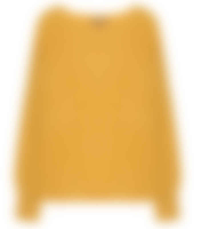 10per3 Yellow Cahmere Round Neck Sweater