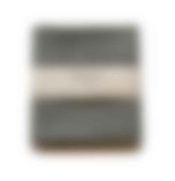 Vaxbo Lin Black Linen Bubbel Bath Towel