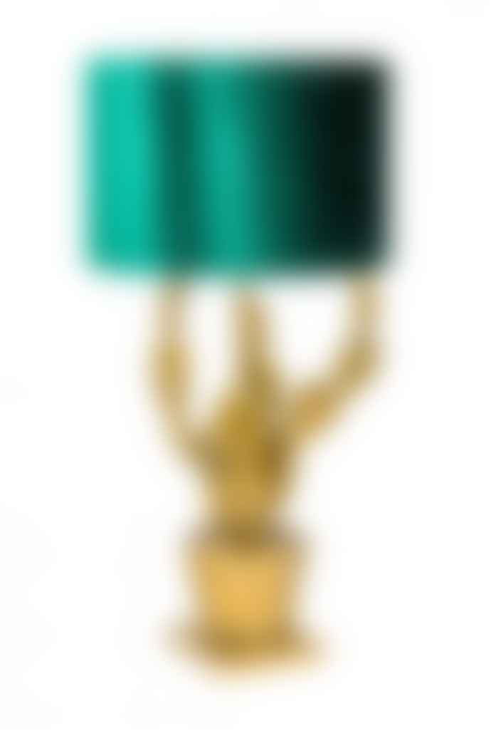 The Home Collection Antique Gold Potted Cactus Lamp
