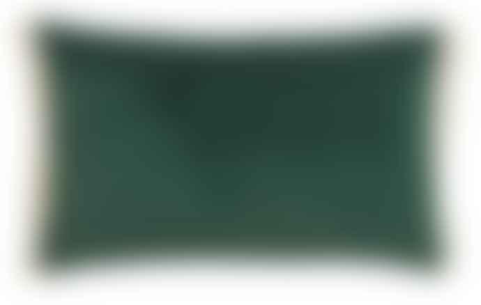 Nordal Dark Green Cushion With Fringe