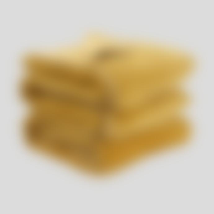 Wallace Cotton Medium Mustard Plush Velvet Bedspread
