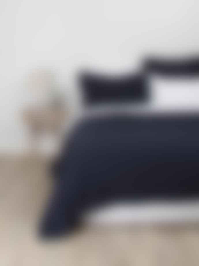 Wallace Cotton Extra Large Indigo Ondine Coverlet Blanket