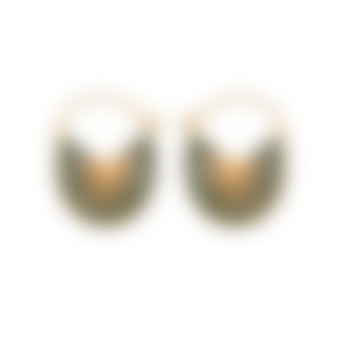 Pernille Corydon Green enamel + Gold Plated Flare Earrings