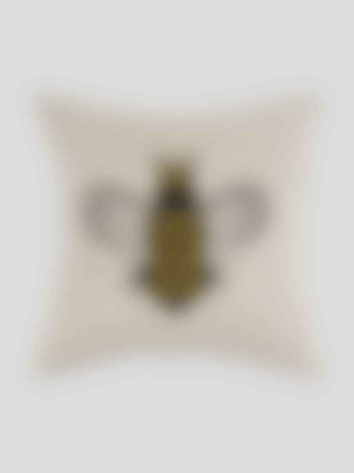 Wallace Cotton Queen Bee Small Square Cushion