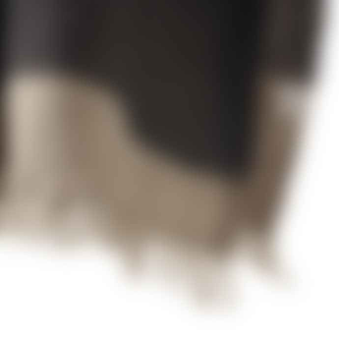 Libeco Plaid Black Stripe The Belgian Linen Towel
