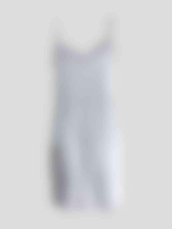 Wallace Cotton Silver Silk Strappy Nighty