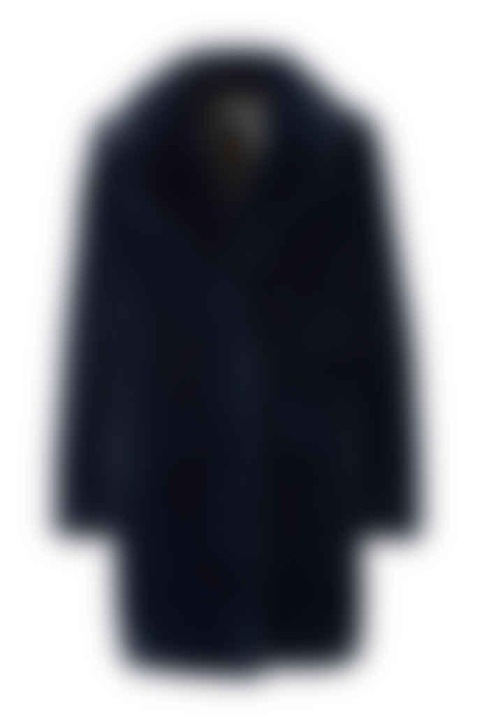 Spoom Navy Blue Kiva Faux Fur Coat