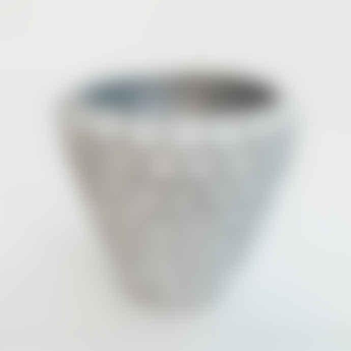 Keep It Living Silver Concrete Handmade Pot