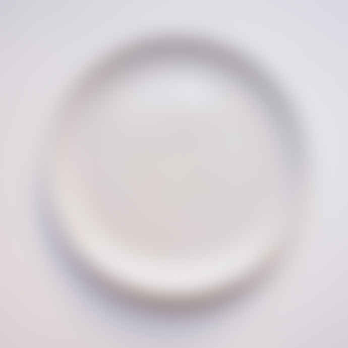CLAY White Handmade Stoneware Collection Dinner Plate
