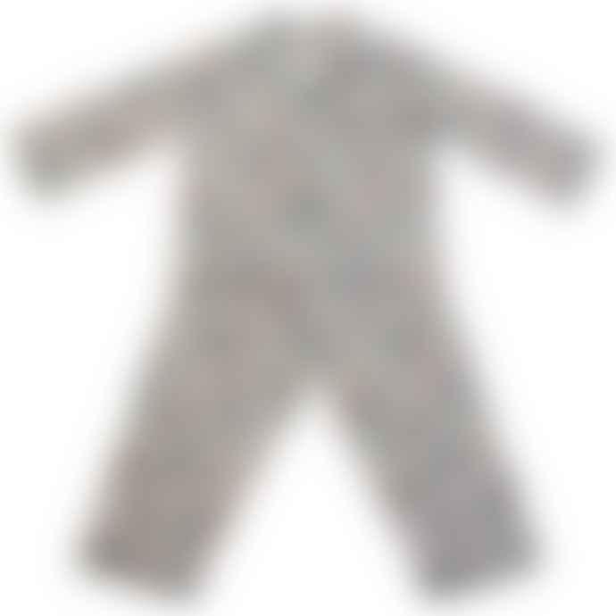 Powell Craft Childrens Vintage Rocket & Space Print Cotton Pyjamas