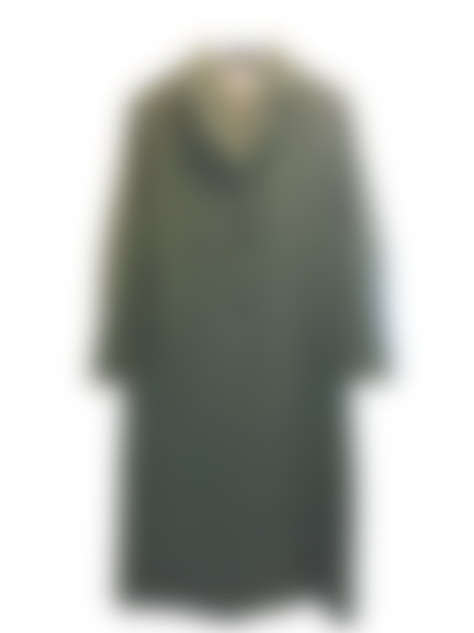 Pomandere Blue Full Length Wool Coat