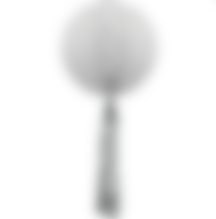 Delight Department White Honeycomb Ball With Silver Tassel