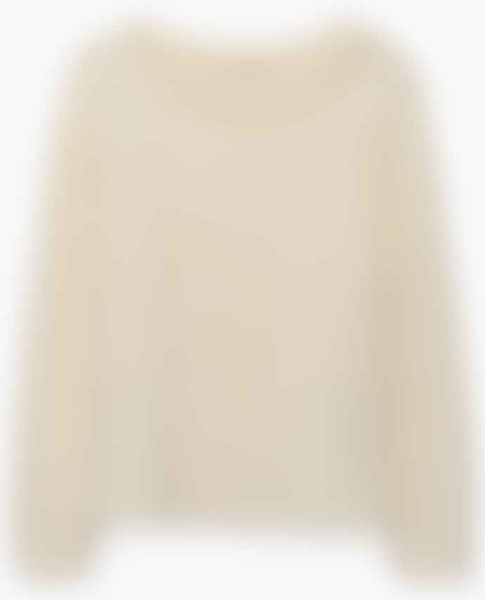 American Vintage White Manina Knit Sweater