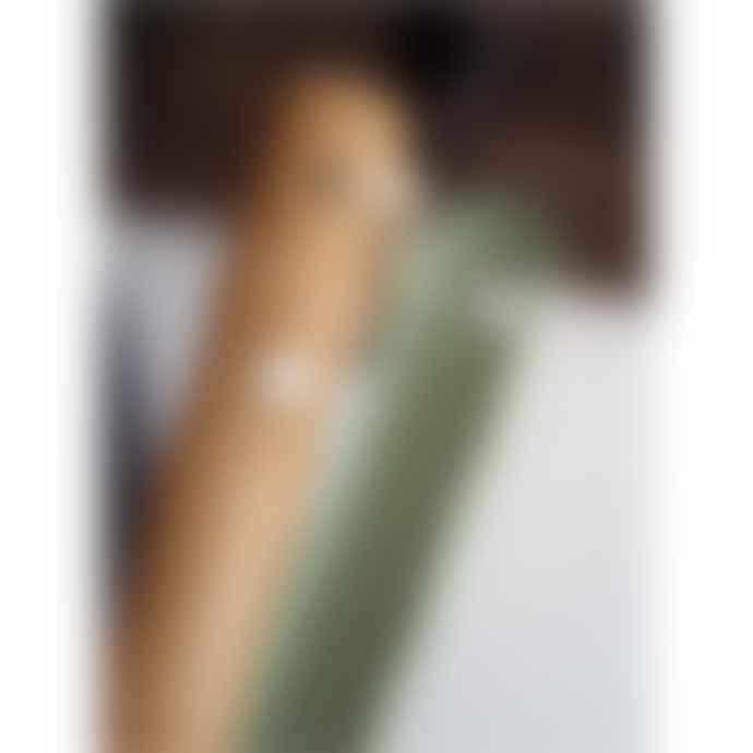 Capventure Vintage Green Bamboo & Metal Dustpan & Brush Set