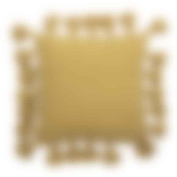 Bloomingville Mustard Tassel Cotton Cushion