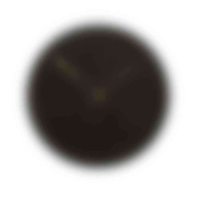 Hubsch Black Marble and Gold/Brass Clock