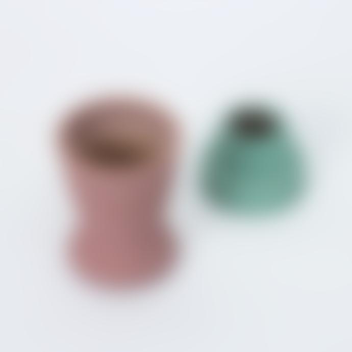 Mari Masot Pink Turquoise Plant Pot