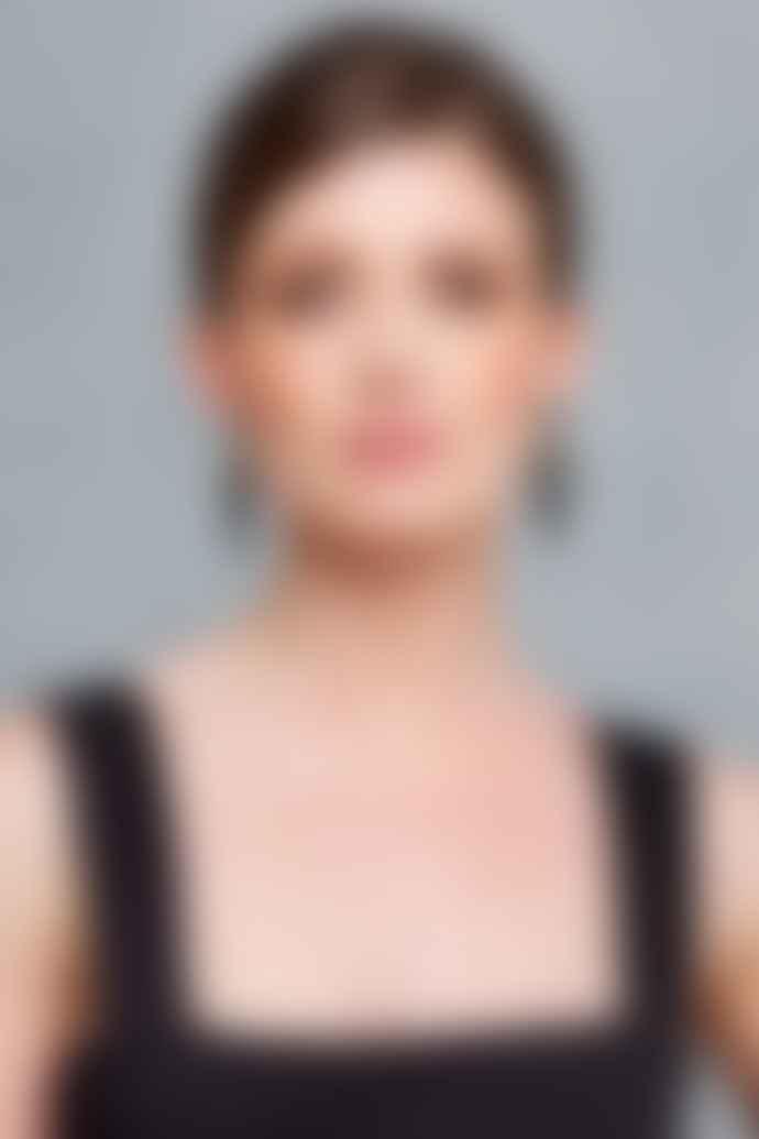Toolally Black Glitter Arrowhead Earrings