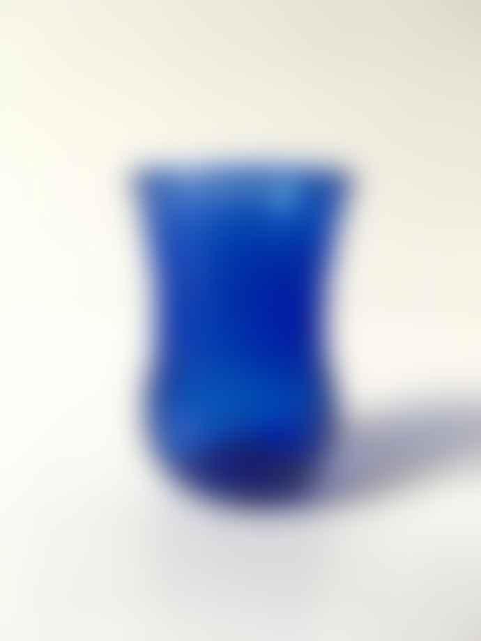 FAIR TRADE Cobalt Blue Art Deco Tea Glass