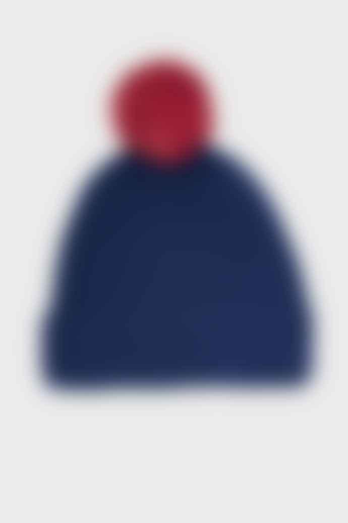 Komodo Navy Merino Wool Pom Pom Beanie