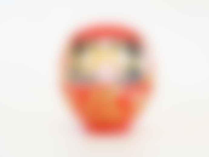 Daimonya Red Daruma Doll: 17cm