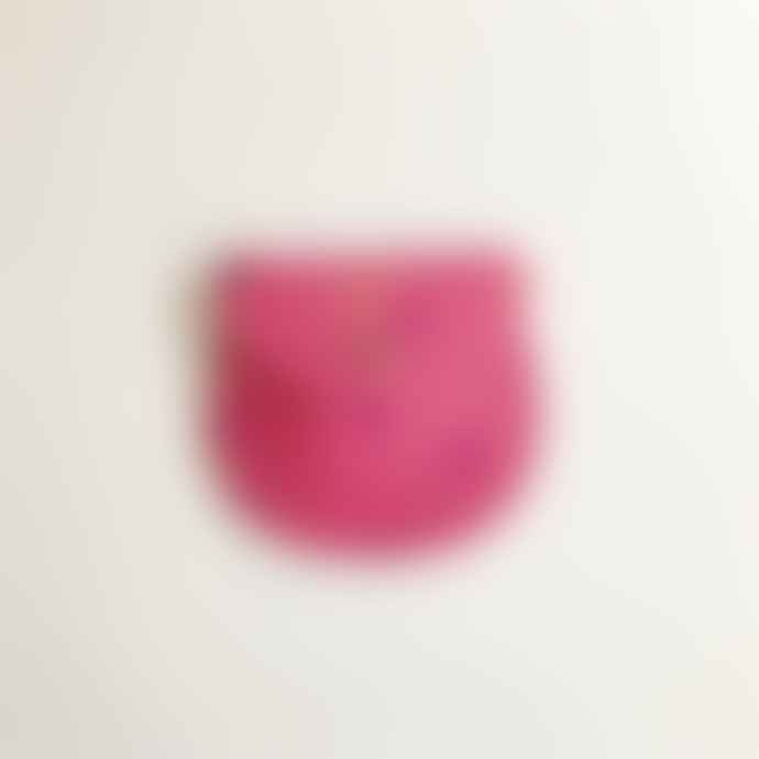 Ark Pink Genuine Leather Spotty Metallic Small Cross Body Bag