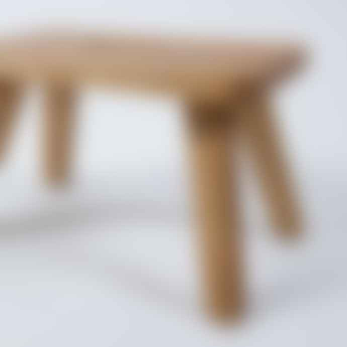 "Wooden Stool ""Emil"" Made Of Oak"