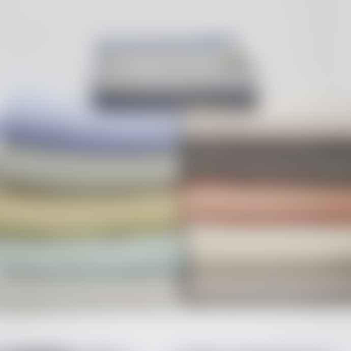Weaver Green Oxford Stripe Blanket Throw Dove Grey