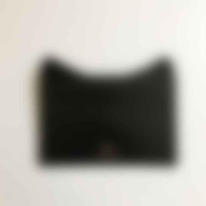 Ark BLACK METALLIC CAT CLUTCH POUCH