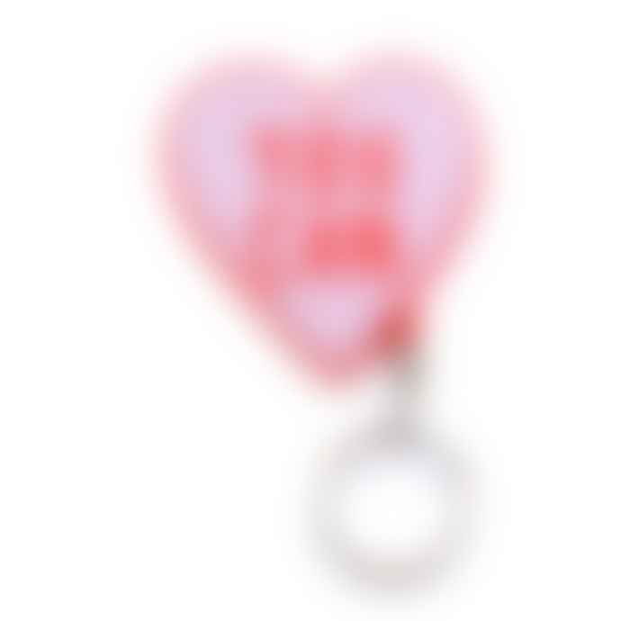 "Old English Co.  ""You Can"" Red and Pink heart keyring"