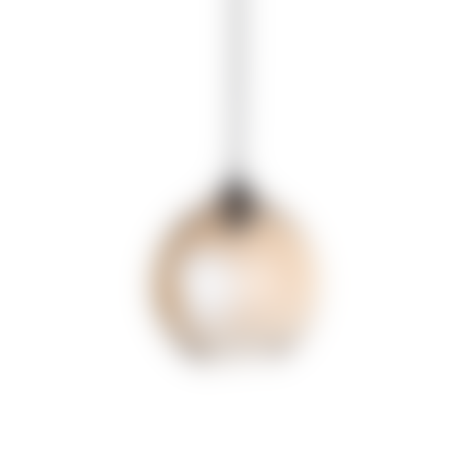 Bloomingville Brown Glass Ball Shaped Pendant Lamp