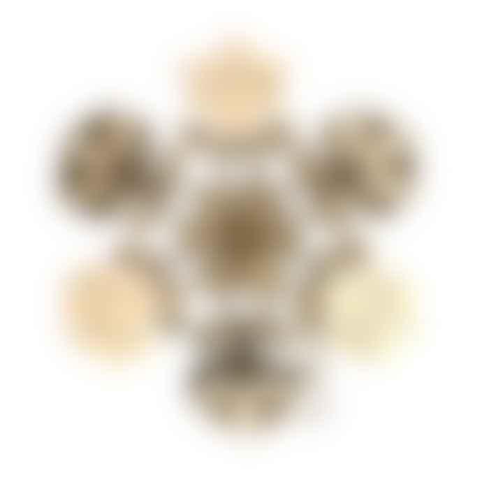 Fundamental Berlin Set of 3 Brass Snowflakes
