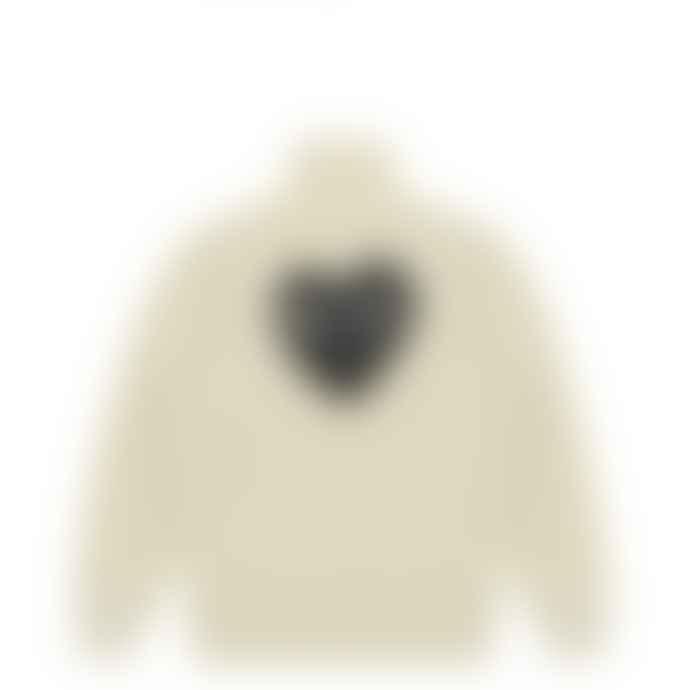 Comme Des Garcons Play Comme des Garçons Sweatshirt with Big Heart (Ivory) P1T256