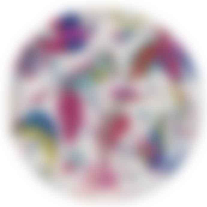 - Audubon Multicoloured Round Tray - Large